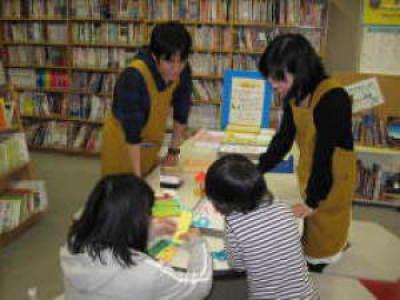 H22年子ども読書しおり作り